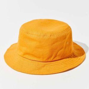 UO Chloe Canvas Bucket Hat Mustard Yellow NWT